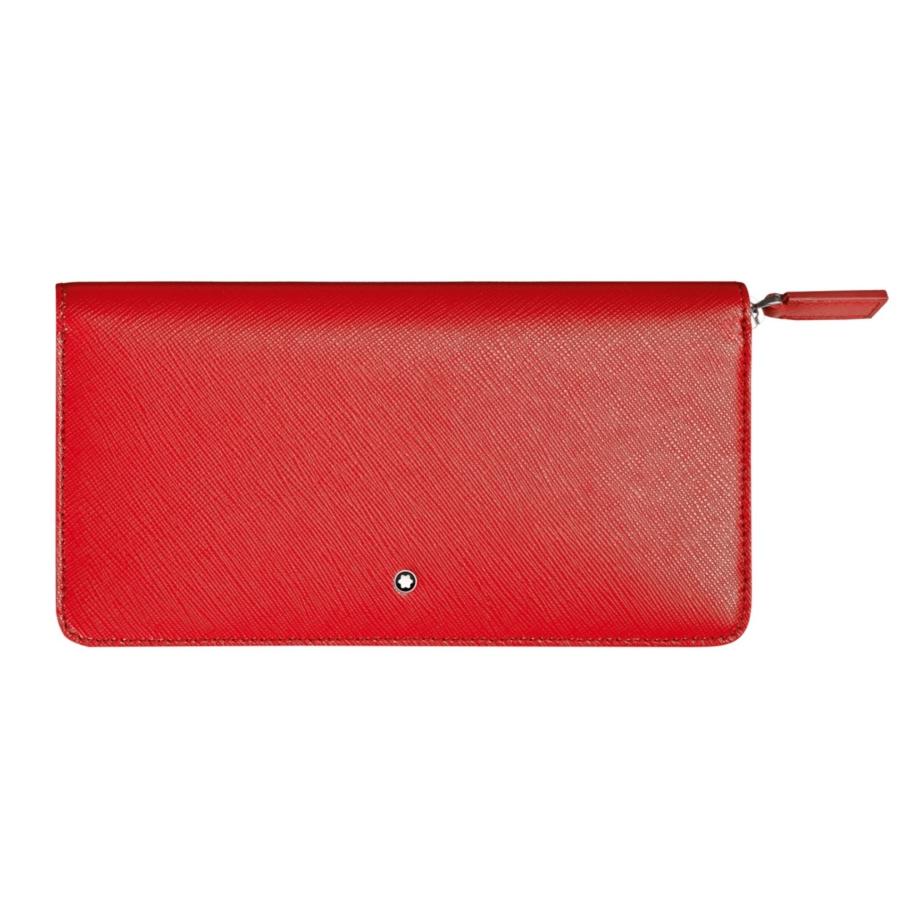 Montblanc kožená červená dámská peněženka