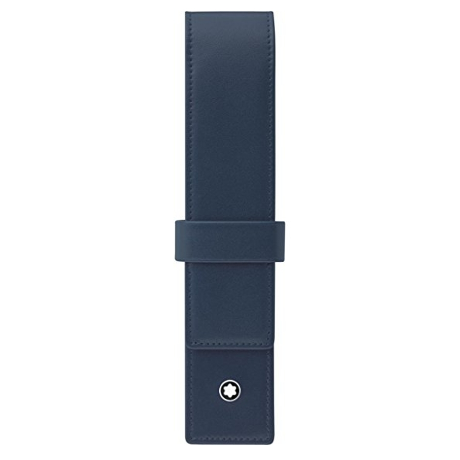 Montblanc modré kožené pouzdro na 1 pero