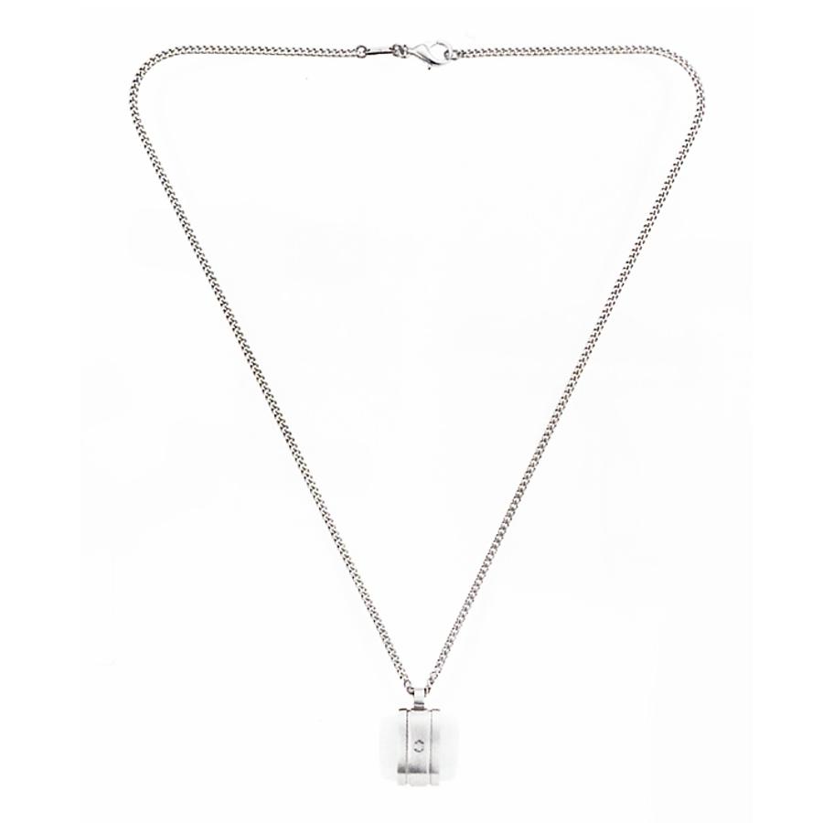 Montblanc náhrdelník z oceli a achátu (AGATE)