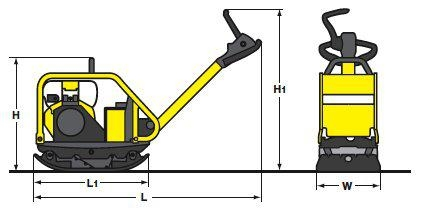BOMAG BPR 60/65 D - reverzní vibrační deska