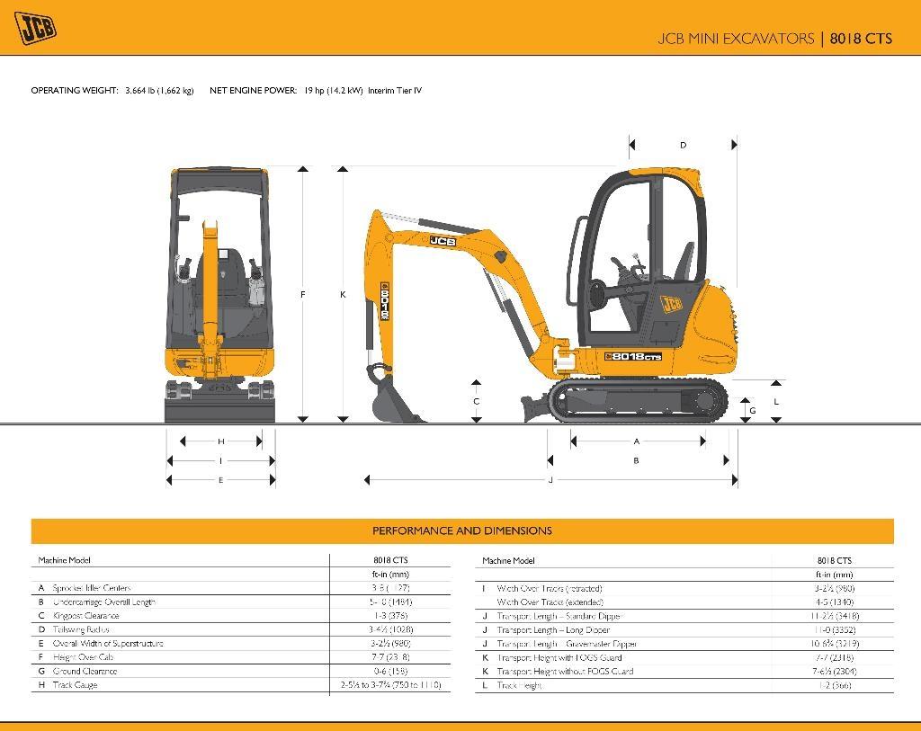 JCB 8018 CTS - pásový minibagr