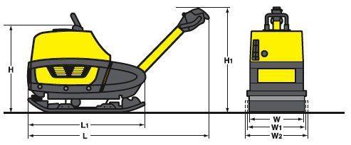 BOMAG BPR 70/70 D - reverzní vibrační deska