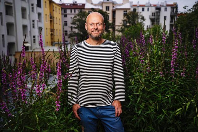 Kořenová čistírna odpadních vod právě osázená - Michal Šperling