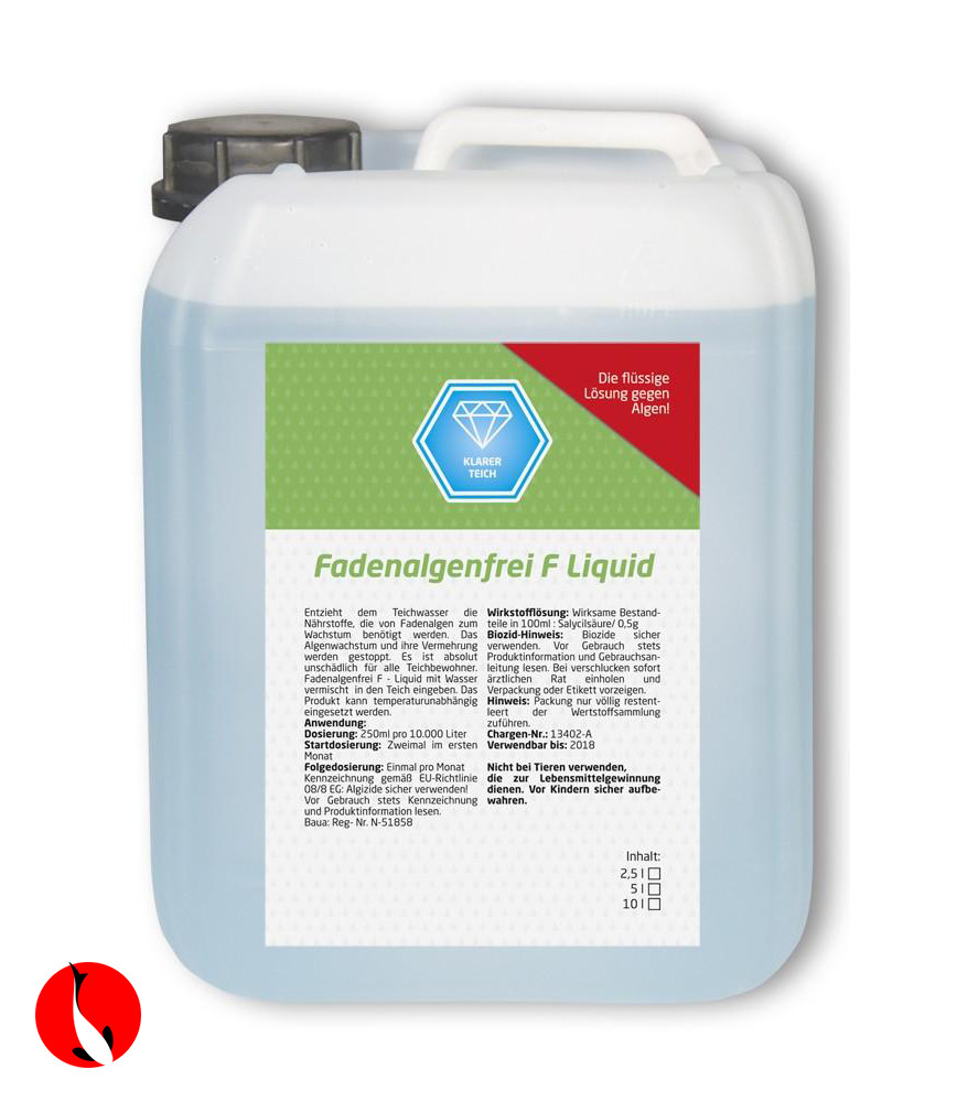 Fadenalgenfrei F- liquid proti vláknité řase 2,5L