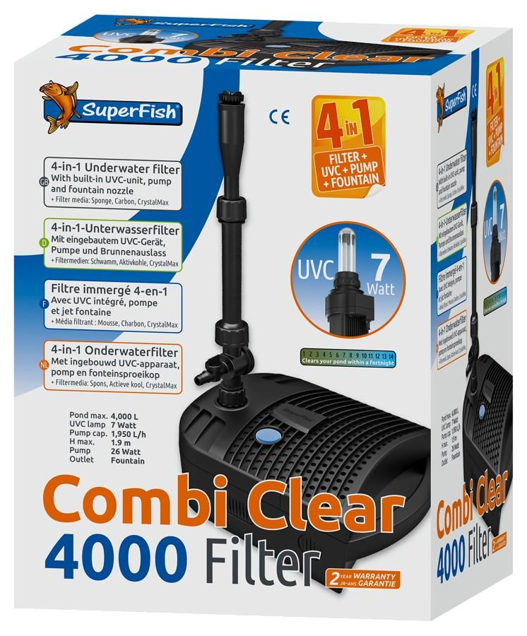 Superfish Combi Clear 4000 4-v-1 rybníkový filtr UVC