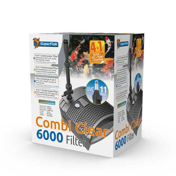SUPERFISH COMBI CLEAR 6000 4-V-1 RYBNÍKOVÝ FILTR UVC