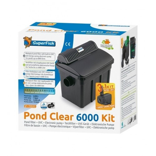 SuperFish Pond Clear Kit 6000 UVC-7W 3v1